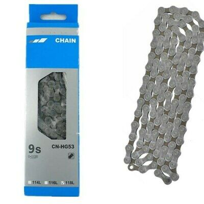 1Pc Ultra Light 9/27 Speed Chains Road MTB Bicycle 116 Links CN-HG53 Bike Parts • 12.99£