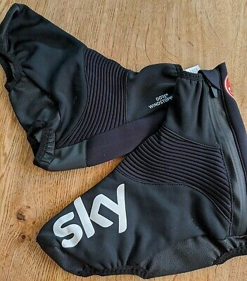 Castelli Team SKY Gore Windstopper Cycling Overshoes. Size XL • 0.99£