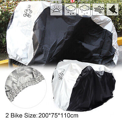 Double Bicycle Bike Cycle Cover Rust Waterproof Anti Rain UV Protection Uk • 9.59£