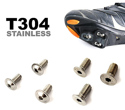 Pedal Cleat Bolts Screws Set - Rust Proof Stainless Steel • 2.95£