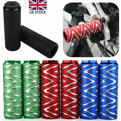 1 Pair MTB BMX Bike Alloy Foot Stunt Pegs Footrest Lever Cylinder Grip Axle Hot • 7.49£