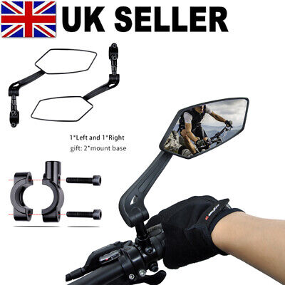 Adjustable Bicycle Rear View Mirror Bike Cycling Wide Range Back Sight Reflector • 12.95£