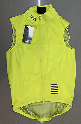 Rapha Pro Team Lightweight Rain Gilet Yellow Size Small Brand New With Tag • 95£