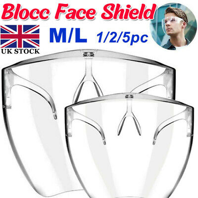 Blocc Innovative Face Shield Transparent Glasses Visor PC Antitouch/wind Cycling • 25.20£