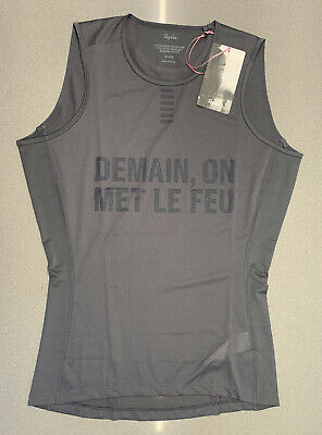 Rapha Pro Team Base Layer Sleeveless Carbon Grey Size Large Brand New With Tag • 45£