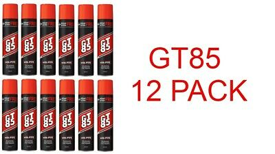 12 X GT85 PTFE LUBRICANT SPRAY AEROSOL CHAIN OIL LIBE 400+60ml WATER DISPLACER! • 30.99£