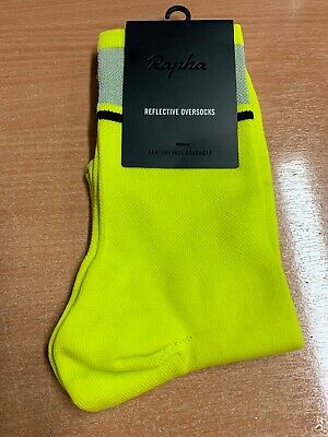 Rapha Reflective Oversocks Yellow Medium Brand New With Tag Made In Italy  • 6.99£
