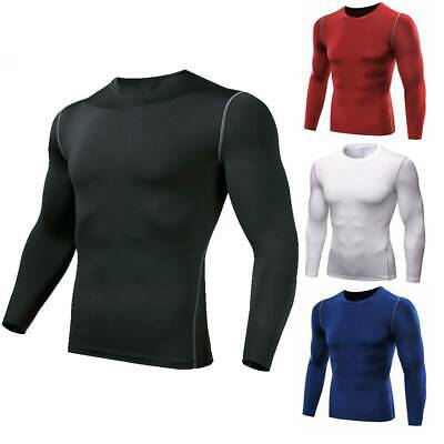New Mens Compression Armour Base Layer Top Long Sleeve Thermal Sports Gym Shirt • 11.99£