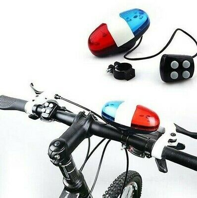 Kids Cycling Bike Accessories Electric Horn Sounds Bicycle Police Siren Lights • 5.99£