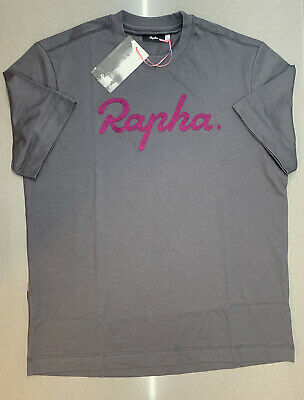 Rapha Logo T-Shirt Carbon Grey Mauve Size Small Brand New With Tag • 35£