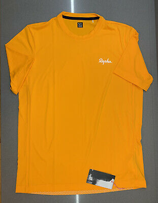 Rapha Men's Commuter Reflective T-Shirt Dark Yellow Size Medium New With Tag • 50£