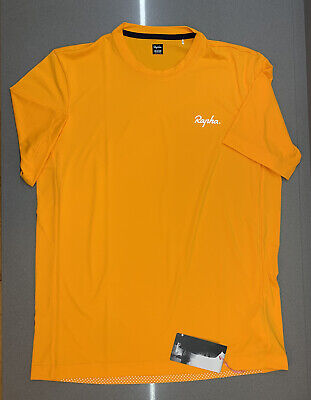 Rapha Men's Commuter Reflective T-Shirt Dark Yellow Size Large New With Tag • 50£