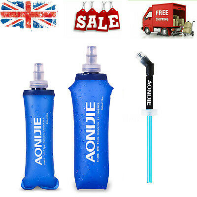 250ml/500ml Foldable Soft Flask TPU Outdoor Sport Running Water Bottle UK E4T1 • 18.99£