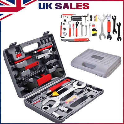 44 In Set Bicycle Tool Kit Complete Maintenance Repair Hand Wrench Mountain Bike • 24.99£
