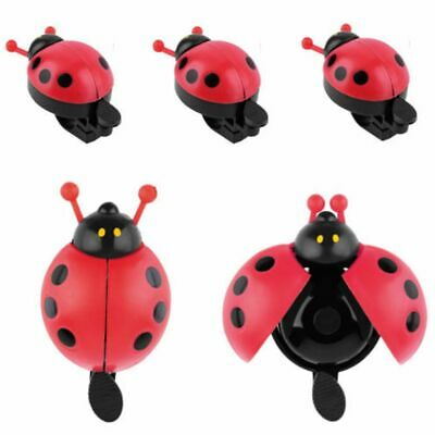 Lovely Kid Beetle Ladybug Ring Bell For Cycling Bicycle Bike Ride Horn Alarm UK • 3.11£