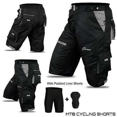 MTB Shorts Bicycle Mountain Cycle Off Road Padded Shorts Outdoor 3S SPORTS New  • 24.99£