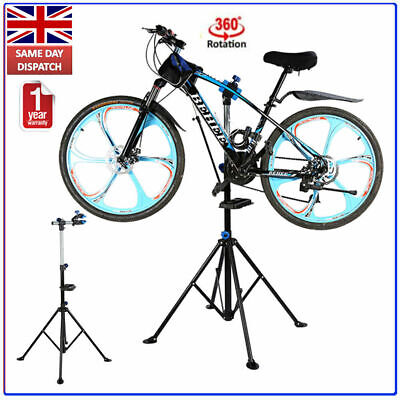 Bicycle Bike Maintenance Repair Stand Adjustable Workstand Rack With Clamp Jaws • 42.61£