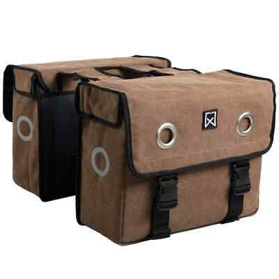 Willex Newspaper Bag Canvas 46 L Brown Bicycle Rear Storage Pannier 11243 • 53.14£