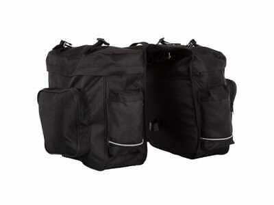 Large ETC Bicycle Cycle Bike Pannier Bag Triple Black • 24.99£