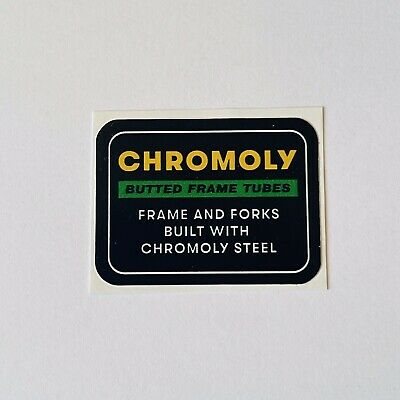 Chromoly Steel Decal - High Quality Chromo Bike Decal Sticker Transfer  • 2.90£