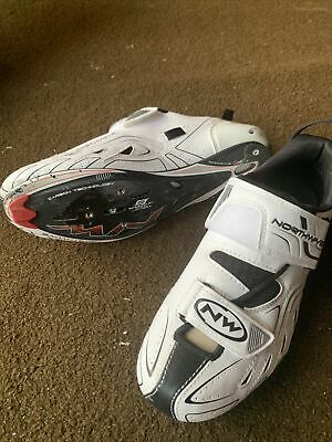 Northwave Tri-sonic White Cycle Shoes Womens UK 6.5 • 50£