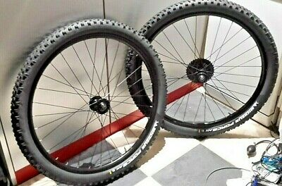 2 X WHEELS 27.5  BACK AND FRONT WHEELS WITH MICHELIN FORCE AM TYRES • 80£