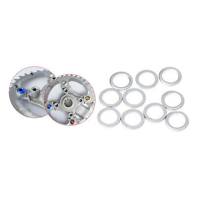 10Pack Bike Replacement Chainring Bolt Spacer Washer Gasket Ring Accessories • 2.76£