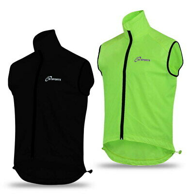 Mens Cycling Gilet Shower Windproof Foldable Cycling Jacket Breathable Gilet New • 12.99£