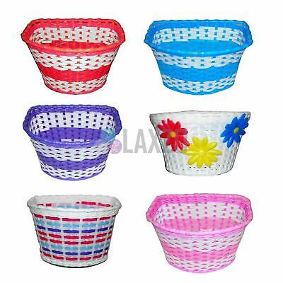 Girls Bicycle Basket Flower/Shopping Childs/Childrens/Kids Bike/Cycle • 7.99£