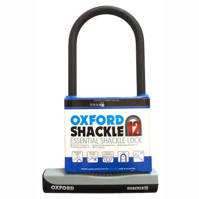 Bike D Lock Oxford Essential Shackle 12 320mm Motorbike Cycle Security • 17.99£