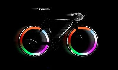2 X MULTI COLOUR Bike Bicycle Cycling Wheel Spoke Wire Tyre Bright LED Flash • 3.99£