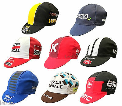 Cycling Bike Cycle Team Cotton Caps Retro Pro Team Fixed Gear Made In Italy • 7.79£
