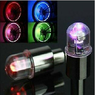 Dome Bike Bicycle Valve Dust Cap LED Lights Multi Colour Neon Car Wheel Tire  • 6.09£