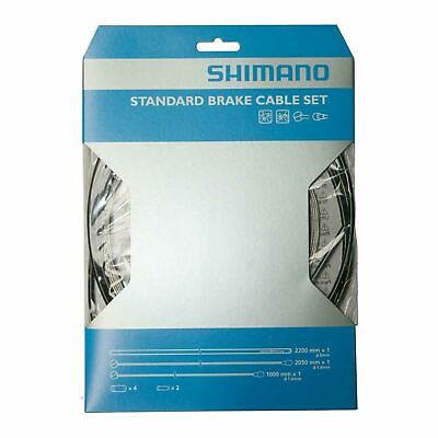Shimano Brake Cable Set For Standard Road Or Mountain Bike Black • 10.99£
