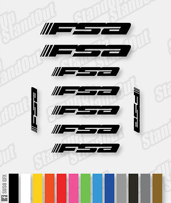 FSA Decals Kit - Custom Colours + Matte + Fluorescent • 4.99£