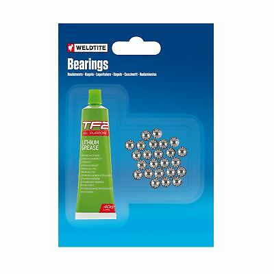 Ball Bearing And Grease 72 Balls 1/8 Inch Bicycle Freewheels Pedals Weldtite • 3.19£