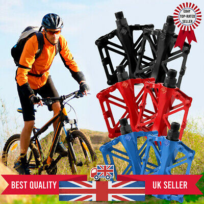 "NEW Alloy Flat Platform Bike Pedals 9/16"" Mountain Bicycle/MTB/BMX/Cycle • 7.99£"
