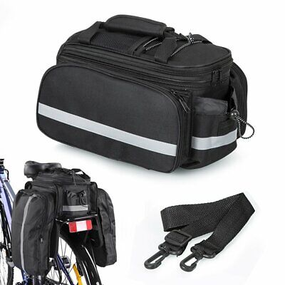 Bicycle Bike Cycle Rear Rack Bag Removable Carry Carrier Saddle New Bag Pannier • 21.99£