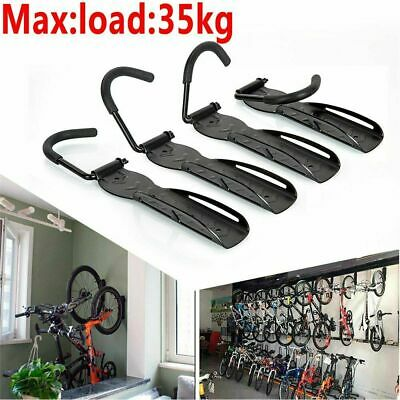 4x Steel Bike Rack Stand Storage Wall Mounted Hook Hanger Bicycle Holder Hanging • 14.59£