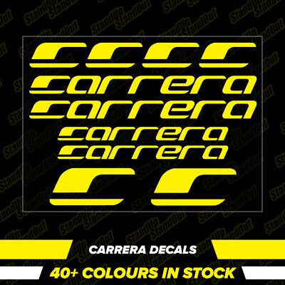 CARRERA Vinyl Decals Stickers 40+ Colours - Cycling Mtb Bmx Road Bike Frame - V1 • 2.89£