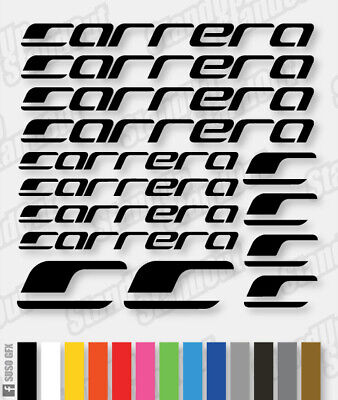 CARRERA Vinyl Decals Stickers 40+ Colours - Cycling Mtb Bmx Road Bike Frame - V2 • 3.39£