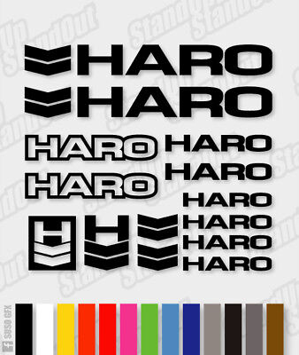 HARO Die-cut Decal Sticker Sheet (cycling, Mtb, Bmx, Bike, Frame) - V3 • 3.99£