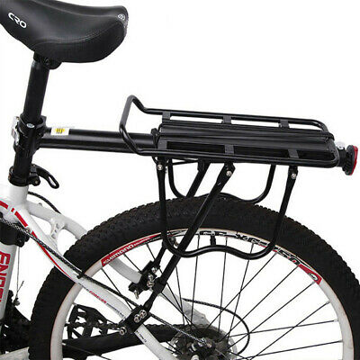 Bicycle Outdoor MTB Mountain Bike Black Rear Pannier Carrier Rack Seat Post Kits • 15.98£