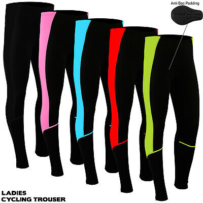 Ladies Women Cycling Tights Winter Thermel Long Pant Cycle Legging Trouser Paded • 15.29£