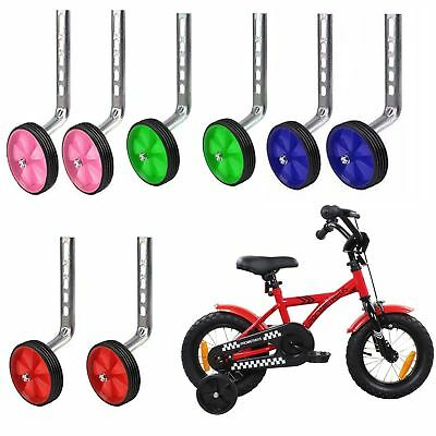 Kids Bicycle Stabilisers 12-20  Universal Training Children Bike Wheels Easy Fit • 15.99£
