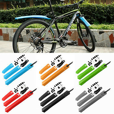 Bike Bicycle Mudguards Mountain MTB Cycling Fender Fronts Rears Mud Guard Set UK • 5.09£