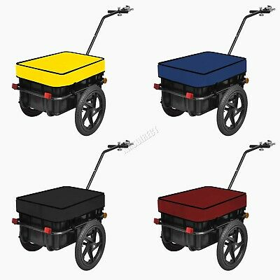 BIRCHTREE Cargo Trailer Bicycle Luggage Storage 70L Cart Removable Cover FH-CT01 • 56.99£