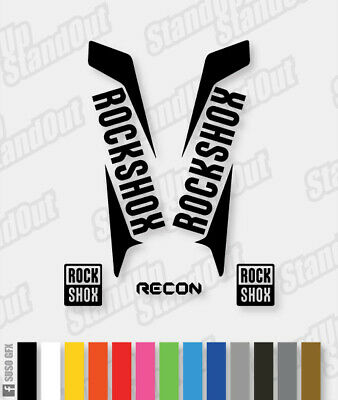 RockShox RECON 2015 2016 Style Decals Stickers - Custom / Fluorescent Colours • 5.50£