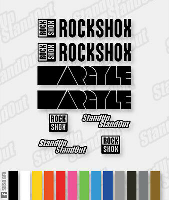 RockShox ARGYLE Style Decals / Stickers - Custom / Fluorescent Colours • 5£