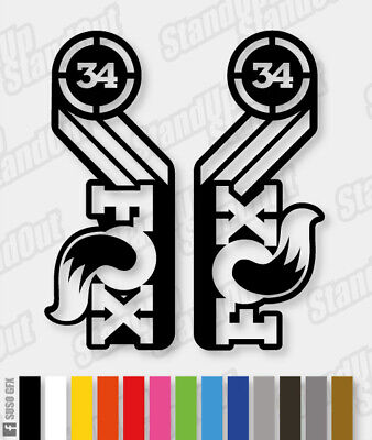 Fox 34 HERITAGE Style Replacement Fork Decal Stickers - Racing Factory Style • 5£